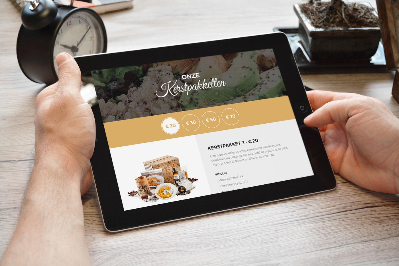 Webdesign cadeau-met-smaak