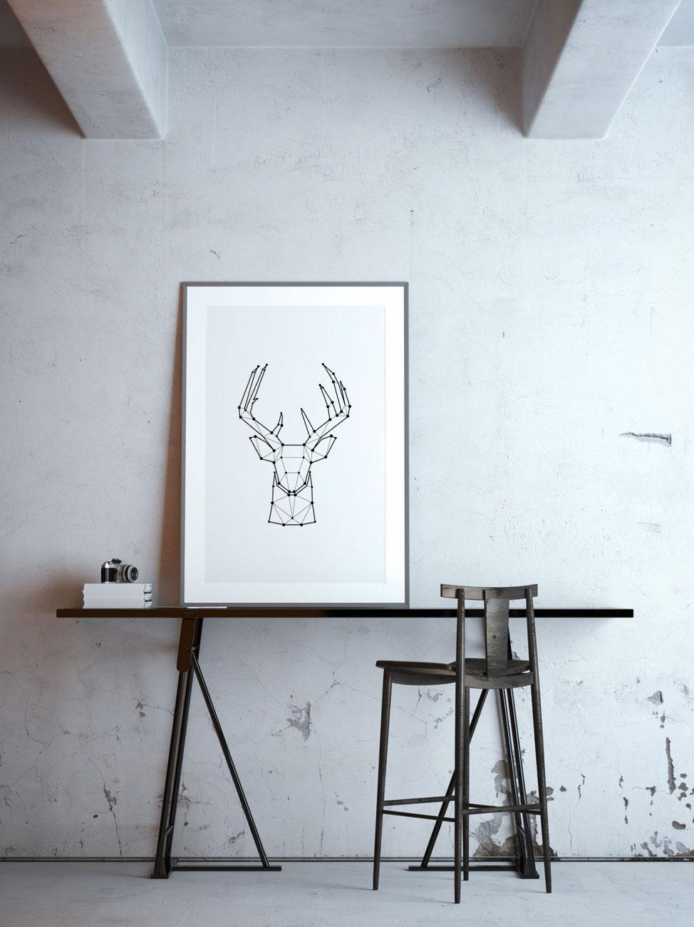 Webdesign interieur-poster-hert